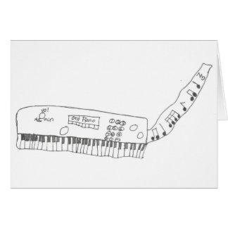 Tarjeta teclado y música
