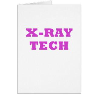 Tarjeta Tecnología de la radiografía