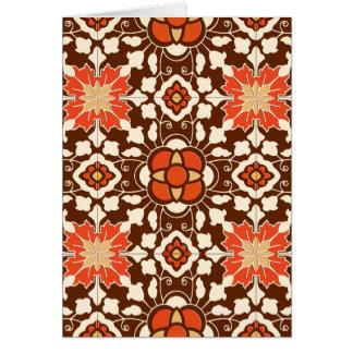 Tarjeta Teja, Brown, moho y beige marroquíes florales