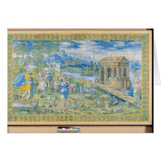 Tarjeta Teja que representa la historia de Noah