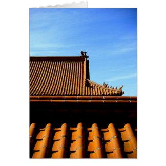Tarjeta tejado del templo