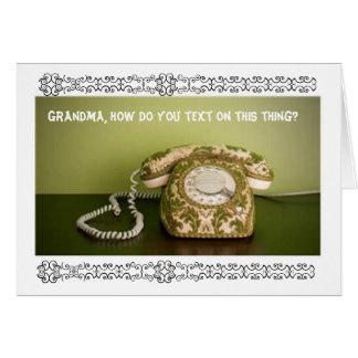 Tarjeta Teléfono del vintage - Texting