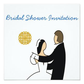 Tarjeta Tema escocés, céltico Showe nupcial del boda de