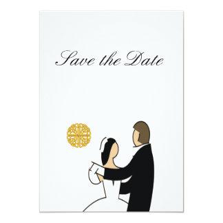Tarjeta Tema escocés y céltico del boda de los pares
