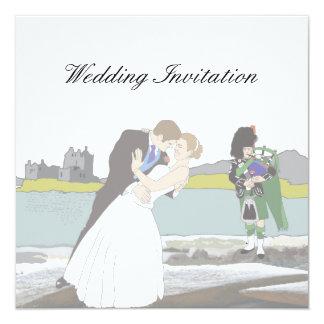 Tarjeta Tema escocés y céltico tradicional del boda