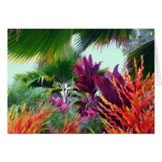 Tarjeta Tema tropical hawaiano del navidad