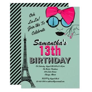Tarjeta temática de la invitación del cumpleaños