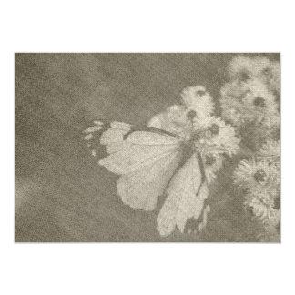 Tarjeta temática de la mariposa invitación 12,7 x 17,8 cm