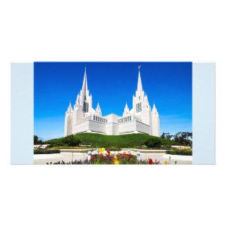 Tarjeta Templo de LDS San Diego horizontal