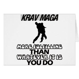 Tarjeta Tender los DISEÑOS de Krav Maga