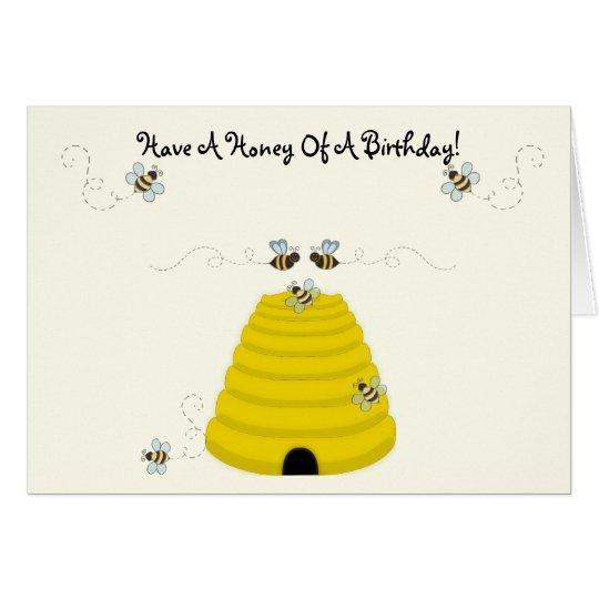 Tarjeta Tenga una miel de un cumpleaños
