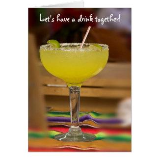 Tarjeta ¡Tengamos una bebida juntos!