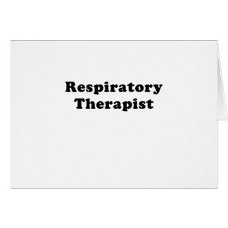 Tarjeta Terapeuta respiratorio