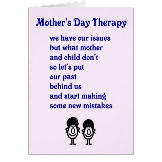 Tarjeta Terapia del día de madre - un poema divertido del