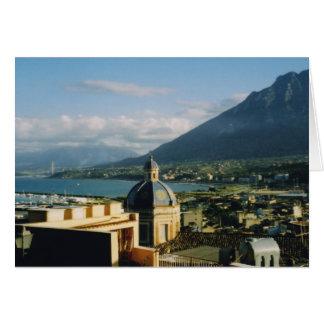 Tarjeta Términos Imerse, Sicilia, Italia