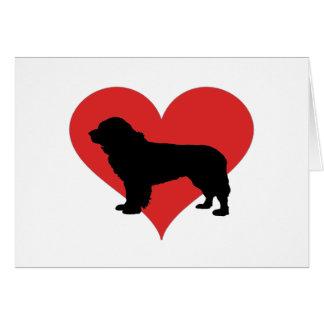 Tarjeta Terranova con un corazón rojo grande