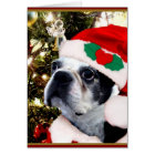 Tarjeta Terrier de Boston del navidad