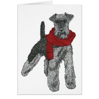 Tarjeta Terrier galés, rojo