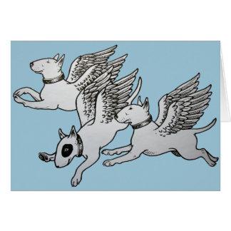 Tarjeta Terrieres de Bull del vuelo