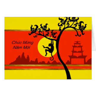 Tarjeta Tet, Año Nuevo lunar vietnamita del mono