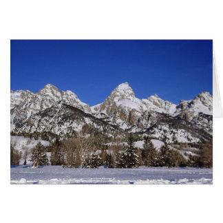 Tarjeta Tetons magnífico, invierno de WY