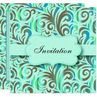 Tarjeta Texto azul y verde de la celebración el | DIY del
