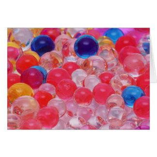 Tarjeta textura de las bolas del agua