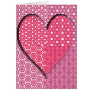 Tarjeta Texturas de un corazón