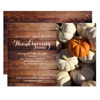 Tarjeta Thankgiving, calabaza, caída