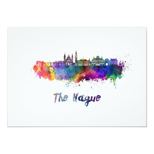 Tarjeta The Hague V2 skyline in watercolor