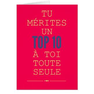 Tarjeta Ti méritos una señal 10