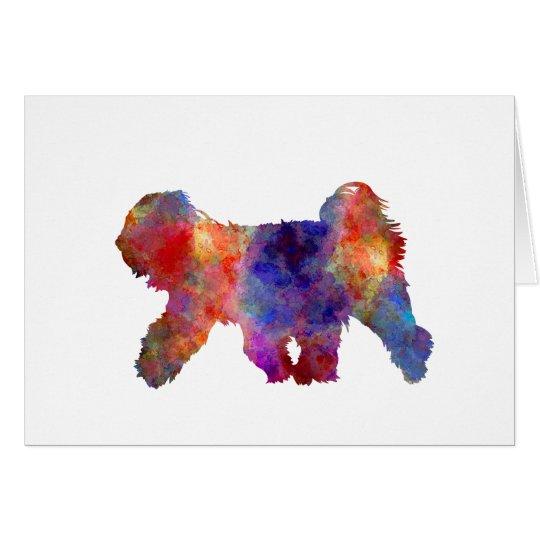 Tarjeta Tibetan Terrier in watercolor