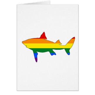 Tarjeta Tiburón del arco iris