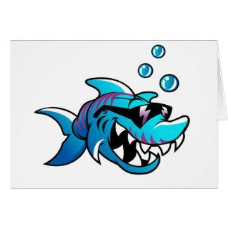Tarjeta Tiburón fresco con las gafas de sol