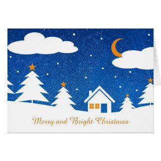Tarjeta Tiempo azul blanco del navidad del invierno