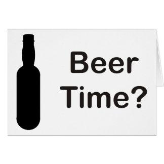 Tarjeta ¿Tiempo de la cerveza?