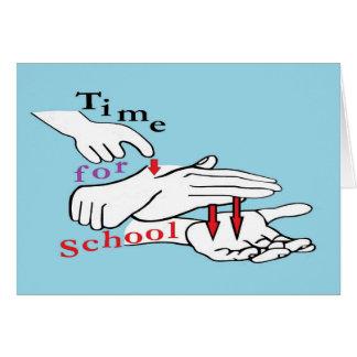 Tarjeta Tiempo del ASL para la escuela