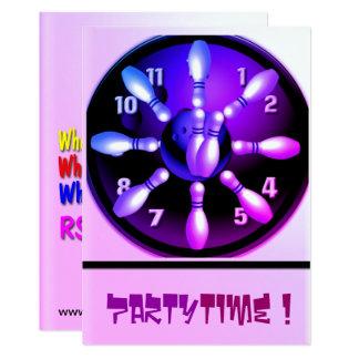 Tarjeta Tiempo del fiesta