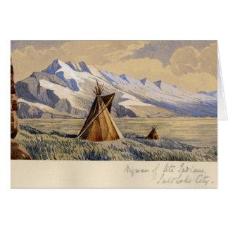 Tarjeta Tienda india de los indios del Ute, Salt Lake City
