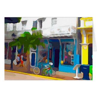 Tarjeta Tiendas coloridas en Key West