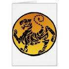 Tarjeta Tigre de Shotokan - oro