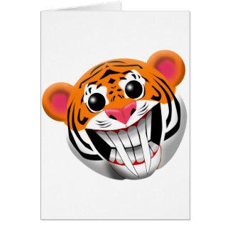 Tarjeta tigre sable-dentado