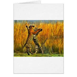 Tarjeta Tigres del baile