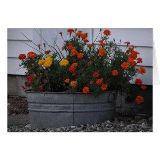 Tarjeta Tina de tonalidades del otoño