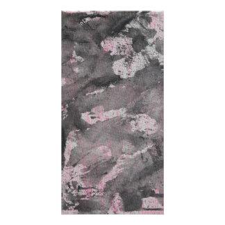 Tarjeta Tinta negra en el Highlighter rosado