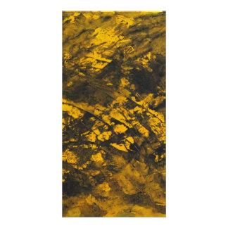 Tarjeta Tinta negra en fondo amarillo