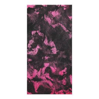 Tarjeta Tinta negra en fondo rosado