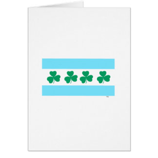 Tarjeta Tinte de Chicago de St Patrick el verde del río