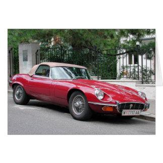Tarjeta Tipo de Jaguar E