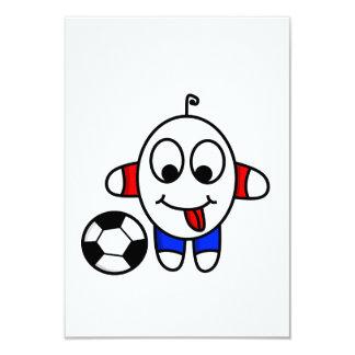 Tarjeta tipo divertido del fútbol